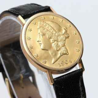 Vacheron Constantin $20 Gold Coin Watch,  1 Owner,  Rare,