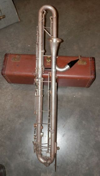 Vintage Leblanc Paperclip Bbb Contrabass Clarinet Low D Sn 187