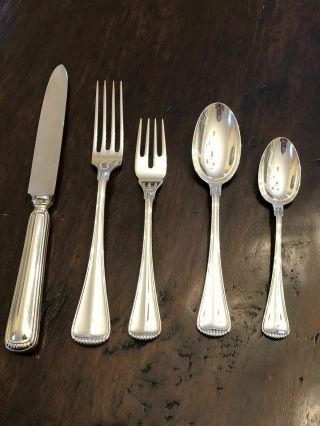 Buccellati Italy Milano Sterling Silver Five Piece Place Setting Flatware Set