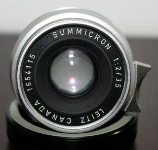 Vintage Leica Summicron 35mm 1:2 M Mount 8 Element Lens With Caps