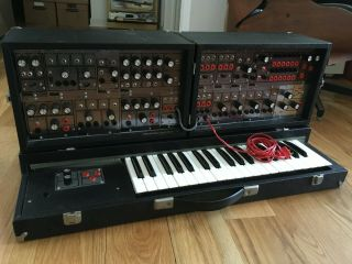 Vintage Paia 4700/s Modular Analog Synthesizer With Keyboard And Road Cases