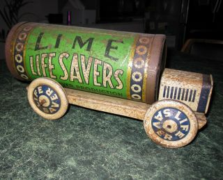 Life Savers Tin Truck Vintage Advertising Toy