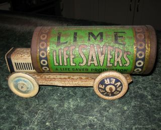 LIFE SAVERS TIN TRUCK VINTAGE ADVERTISING TOY 4