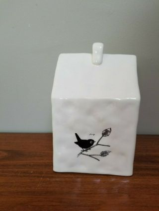 Rare Chirp Square Birdhouse Rae Dunn by Magenta FTD 2