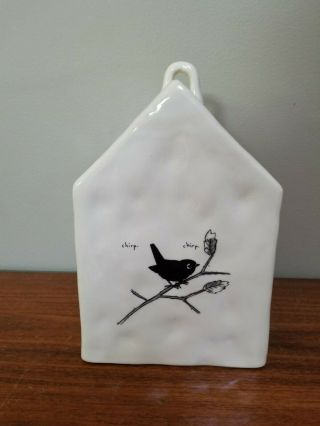 Rare Chirp Square Birdhouse Rae Dunn by Magenta FTD 4