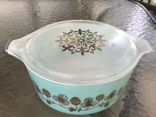 Rare Promo Pyrex Clover Berry 475 Casserole Dish W/lid Exquisite Cond.