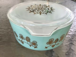 Rare Promo PYREX Clover Berry 475 Casserole Dish W/Lid Exquisite Cond. 2