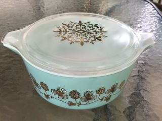 Rare Promo PYREX Clover Berry 475 Casserole Dish W/Lid Exquisite Cond. 3