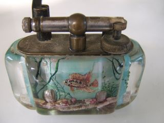 Rare Large Old Dunhill Aquarium Table Lighter Made in England Circa 1950s 11