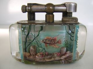 Rare Large Old Dunhill Aquarium Table Lighter Made in England Circa 1950s 2