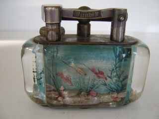 Rare Large Old Dunhill Aquarium Table Lighter Made in England Circa 1950s 4