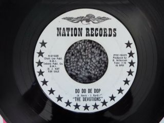 Ultra Rare Northern Soul - Nation 61165 - The Devotions - Do Do De Dop - Dj Promo - 45