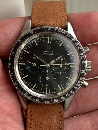 Vintage Omega Speedmaster 2998 - 62 Chronograph,  Faded Don Bezel,  Steel,  Cal 321