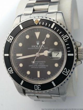 Rolex Submariner Oyster Perpetual Date Mens Vintage Stainless Steel Watch