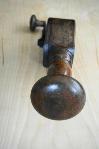 Antique Wooden Breast Drill and Brace Woodworking 7