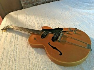 Gibson Es 225 Tdn 1957 Rare Natural Electric Guitar.