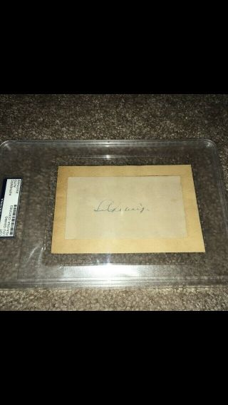 Lou Gehrig Yankees Signed Autographed Vintage Note Card - Psa/dna Authenticated