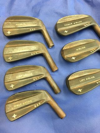 National Custom Don White Irons 5 - Gap.  7 Irons.  Heads Only.  Rare