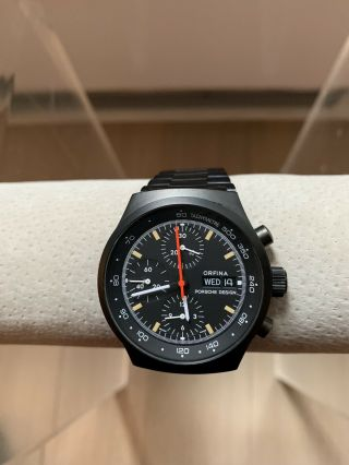 Vintage Porsche Design Chronograph Watch 41mm Orfina 7750 Rare