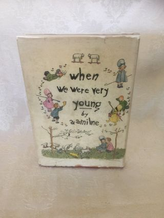 "RARE ""WHEN WE WERE VERY YOUNG"" 1st AM.  INSCRIBED AND DATED 1924 BY A.  A.  MILNE 4"