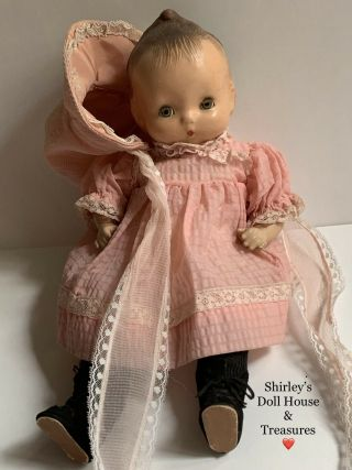 "Vintage Antique Rare Htf Horsman Jeanie Doll 14 "" Composition Cloth Baby"
