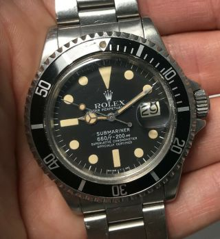 "1978 Vintage Rolex Submariner Ref.  1680 "" Mk1 Dial Unpolished """