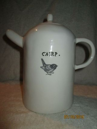 Very Rare Rae Dunn Chirp Tea Pot.  This Is As Flawless As The Day It Was Made