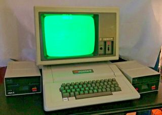 Vintage Apple Ii Plus Computer 2 Disk Ii Drives Apple Iii Monitor Rainbow Cord