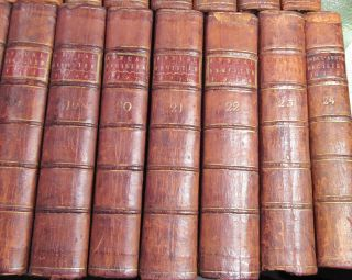 AMERICAN REVOLUTION 1758 to 1780/RARE 1st,  EARLY Ed.  /24 VOLUMES FINE LEATHER VOLS 11