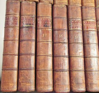 AMERICAN REVOLUTION 1758 to 1780/RARE 1st,  EARLY Ed.  /24 VOLUMES FINE LEATHER VOLS 12
