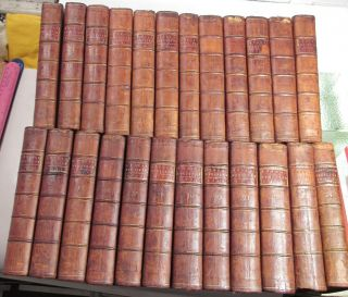 AMERICAN REVOLUTION 1758 to 1780/RARE 1st,  EARLY Ed.  /24 VOLUMES FINE LEATHER VOLS 4