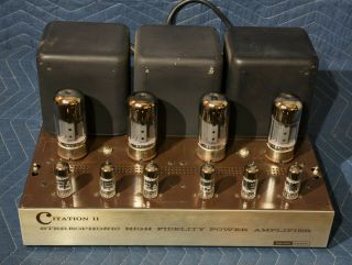 Vintage Harman Kardon Citation Ii Stereo Vacuum Tube Amplifier
