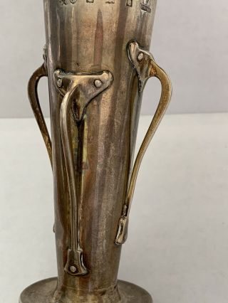 Liberty & Co English Sterling Silver A.  knox Cymric Arts Crafts Nouveau Vase 1900 2