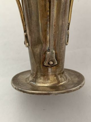 Liberty & Co English Sterling Silver A.  knox Cymric Arts Crafts Nouveau Vase 1900 7