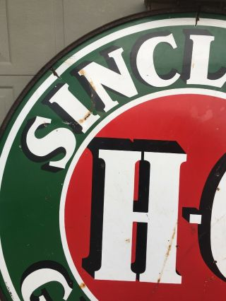 Vintage Sinclair H C.  Gasoline Sign 6 Foot 2 Sided 12