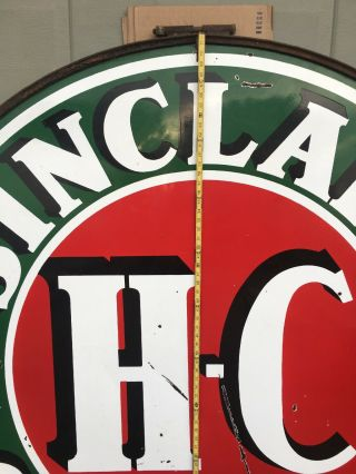 Vintage Sinclair H C.  Gasoline Sign 6 Foot 2 Sided 2
