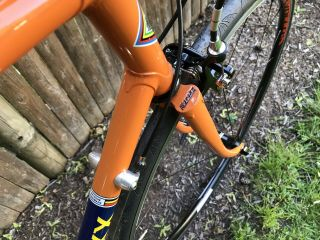 Eddy Merckx 1984 Team Molteni Orange 57cm 58cm Campagnolo Vintage 10 Speed. 9
