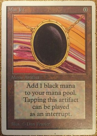 Mtg Unlimited Mox Jet Power 9 Magic The Gathering Played
