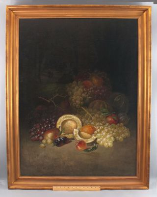 1905 Antique George Whitaker American Fruit Still Life Oil Painting Nr
