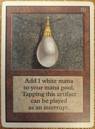 Mtg Unlimited Mox Pearl Power 9 Magic The Gathering Played