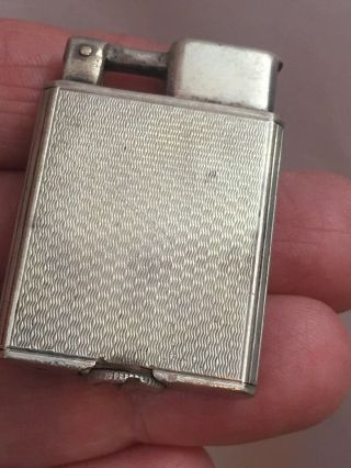 Vintage Sterling Silver Everest Lift Arm Pocket Lighter Design Smaller Size