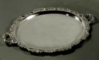Poole Sterling Tea Set Tray C1950 Crest Of Windsor - 150 Oz.