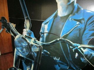 TERMINATOR 2 LIFE SIZE STANDEE.  7 FT.  TALL 3 DIMENSIONAL COOL & VERY RARE. 2