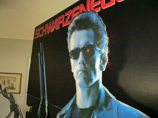 TERMINATOR 2 LIFE SIZE STANDEE.  7 FT.  TALL 3 DIMENSIONAL COOL & VERY RARE. 5