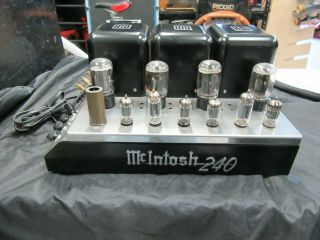 Vintage 1978 Mcintosh Mc 240 Tubed Amplifier