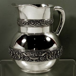 Tiffany Sterling Cellini Pitcher C1902 - No Mono - 36 Ounces