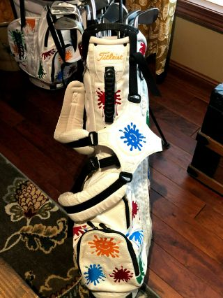 Titleist Scotty Cameron Rare White Paint Splash Stand Bag