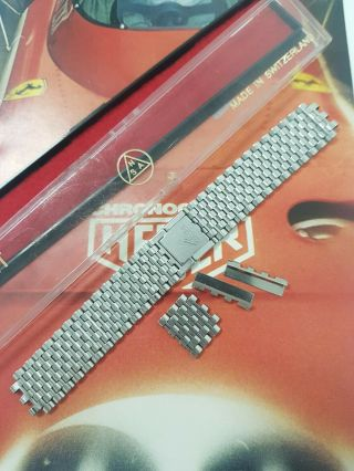 Vintage Heuer Monaco Mk1 Nsa Bracelet With Signed Clasp And 22mm Endlinks