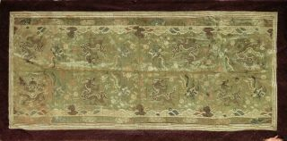 Antique Chinese Embroidery Silk Tapestry,  Dragons,  Kesi,  Textile