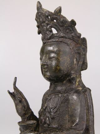 Antique Chinese Bronze Buddha Statue Ming Dynasty 16th 17th C. 11